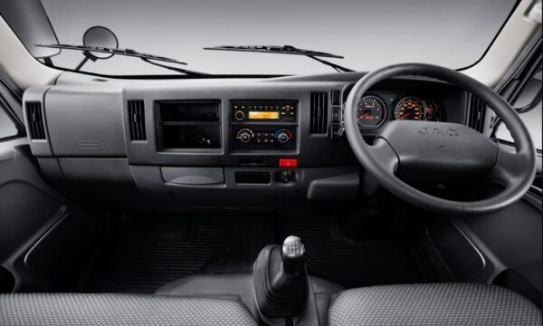 JAC HFC 1042k Pick Truck front cabin interior view