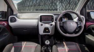 1st generation peugeot 108 hatchback front cabin interior view