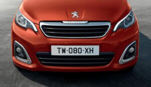 1st generation peugeot 108 hatchback front close view