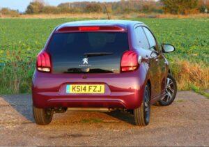 1st generation peugeot 108 hatchback full rear view