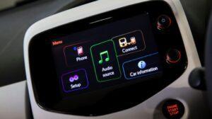 1st generation peugeot 108 hatchback infotainment screen view