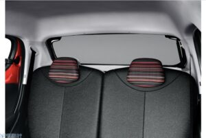 1st generation peugeot 108 hatchback rear windows and seats view