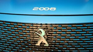 2nd Generation peugeot 2008 SUV front grille close view