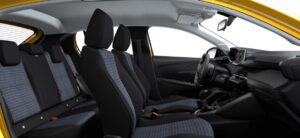 2nd generation peugeot 208 hatchback all seats view