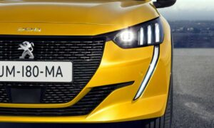 2nd generation peugeot 208 hatchback beautiful front headlamps view
