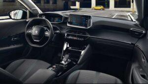 2nd generation peugeot 208 hatchback front cabin interior view