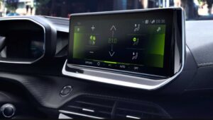 2nd generation peugeot 208 hatchback infotainment screen view