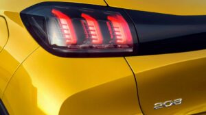 2nd generation peugeot 208 hatchback tail lamp view