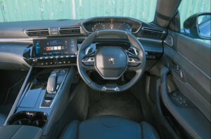 2nd generation peugeot 508 sedan front cabin interior view and features