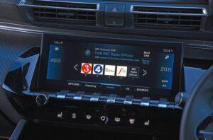 2nd generation peugeot 508 sedan infotainment screen view