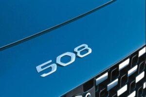 2nd generation peugeot 508 sedan model written on bonnet front