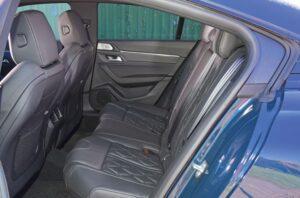 2nd generation peugeot 508 sedan rear seats view
