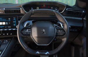 2nd generation peugeot 508 sedan steering wheel view