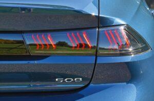 2nd generation peugeot 508 sedan tail lamps view