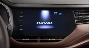 1st generation haval f7 suv infotainment screen view