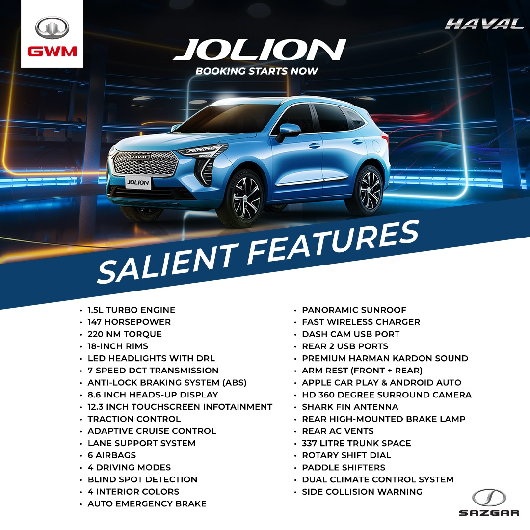 1st generation haval jolion suv specs and features