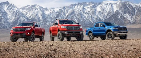 3rd generation facelift ford ranger pickup truck beautiful colors
