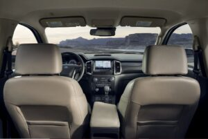 4th generation ford ranger pickup truck front cabin interior view