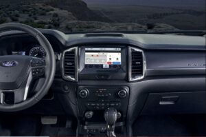 4th generation ford ranger pickup truck infotainment screen and controls view