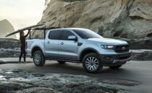 4th generation ford ranger pickup truck full side view