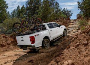 4th generation ford ranger pickup truck moving upward view