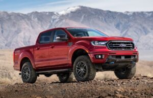 4th generation ford ranger pickup truck red awesome view