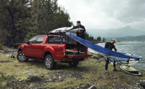 4th generation ford ranger pickup truck red loading view