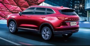 3rd generation haval h6 suv beautiful side and rear view