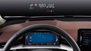 3rd generation haval h6 suv instrument cluster and head up display