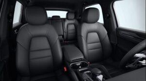 3rd generation porsche cayenne suv front black seats