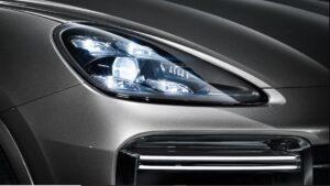 3rd generation porsche cayenne suv headlamp view