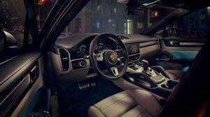 3rd generation porsche cayenne suv steering wheel and transmission
