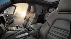 3rd generation porsche cayenne suv turbo front brown seats
