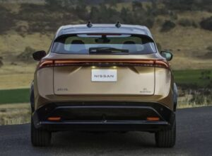 1st generation Nissan Ariya All Electric SUV full rear view