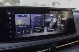 1st generation Nissan Ariya All Electric SUV infotainment screen view