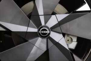 1st generation Nissan Ariya All Electric SUV wheel view