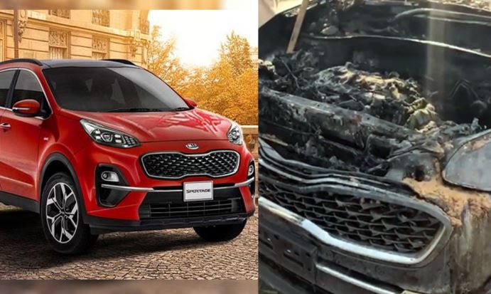 Inspection of KIA Sportage and issuance safety warnings by Lucky Motors Pakistan