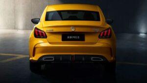 2nd generation MG5 sedan bold rear view