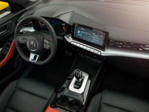 2nd generation MG5 sedan dashboard and infotainment screen view