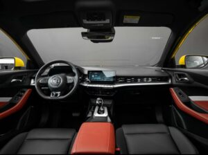 2nd generation MG5 sedan front cabin interior view