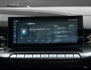 2nd generation MG5 sedan infotainment screen close view