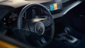 2nd generation MG5 sedan steering wheel view