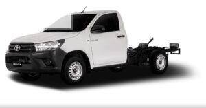8th generation Toyota hilux single cabin deckless view