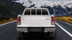 8th generation Toyota hilux single cabin pickup truck full rear view