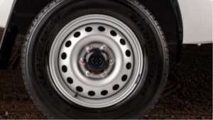 8th generation Toyota hilux single cabin pickup truck steel wheel view