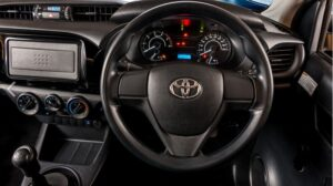 8th generation Toyota hilux single cabin pickup truck steering wheel and instrument cluster
