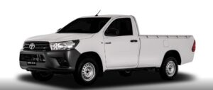 8th generation Toyota hilux single cabin title full side view
