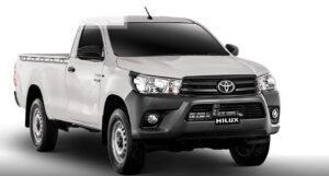 8th generation Toyota hilux single cabin title image and front view