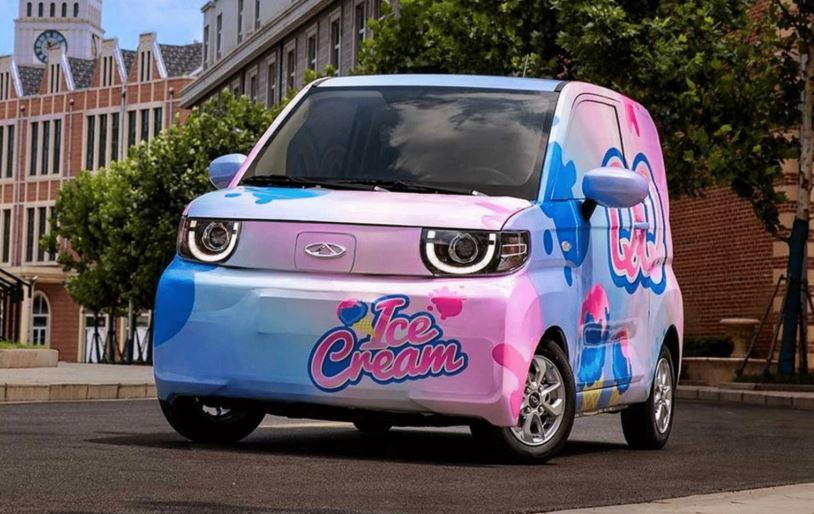 Cherys new mini EV QQ ice cream is a Decent Looking Ride