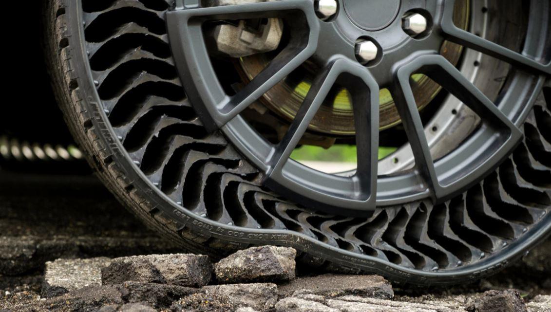 UPTIS unique puncture proof tire system